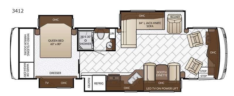 Floorplan - 2017 Newmar Ventana LE 3412