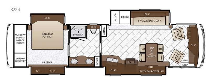 Ventana LE 3724 Floorplan Image