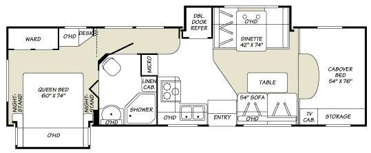 Floorplan - 2007 Fleetwood RV Tioga 31M