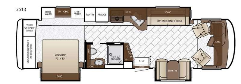 Floorplan - 2017 Newmar Canyon Star 3513