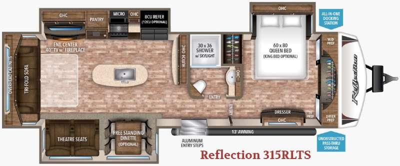 Floorplan - 2017 Grand Design Reflection 315RLTS