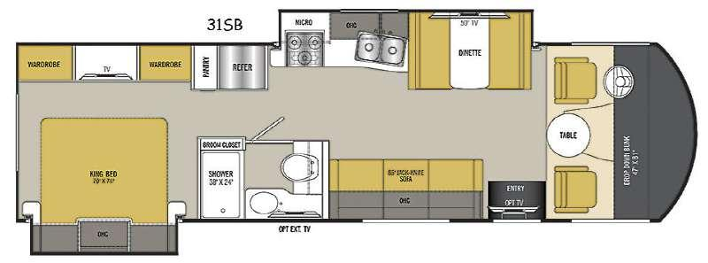 Floorplan - 2017 Coachmen RV Pursuit 31 SB