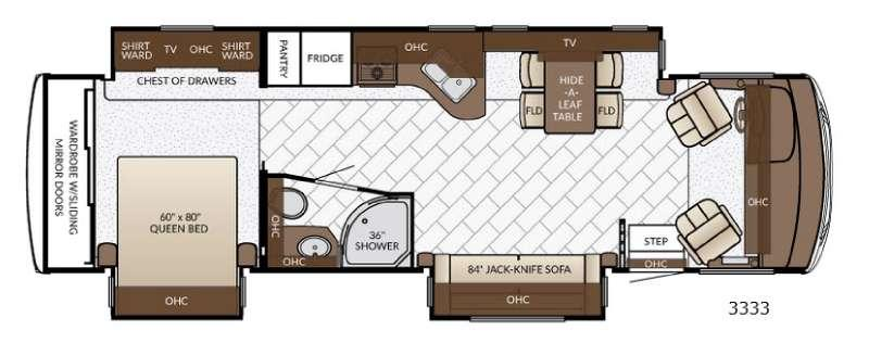 Floorplan - 2017 Newmar Bay Star 3333