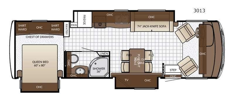 Floorplan - 2017 Newmar Bay Star Sport 3013