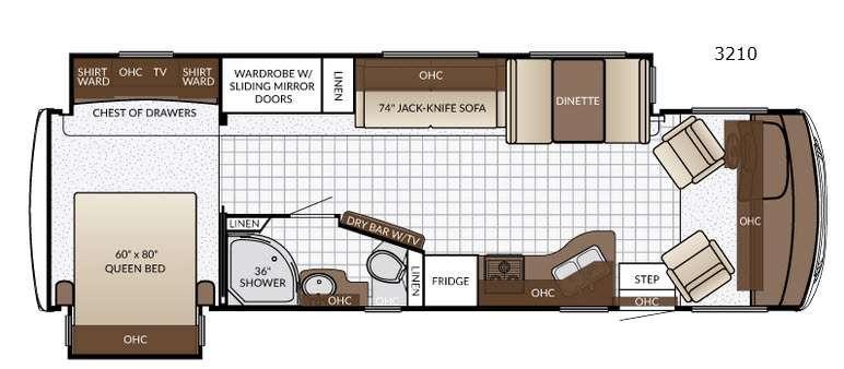 Bay Star Sport 3210 Floorplan Image