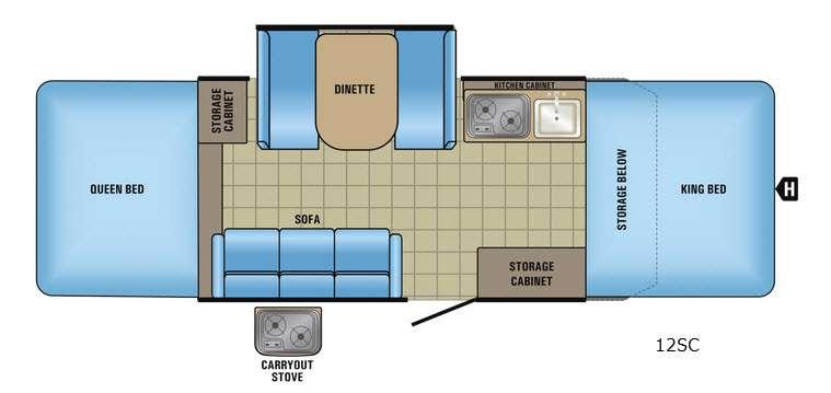 Jay Series Sport 12SC Floorplan Image
