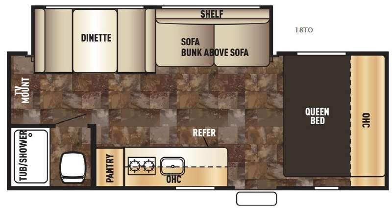 Cherokee Wolf Pup 18TO Floorplan