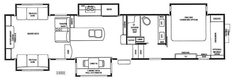 RiverStone 38RE Floorplan Image
