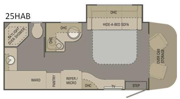 Floorplan - 2017 Renegade Villagio 25HAB