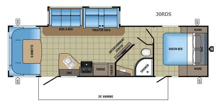 White Hawk 30RDS Floorplan Image