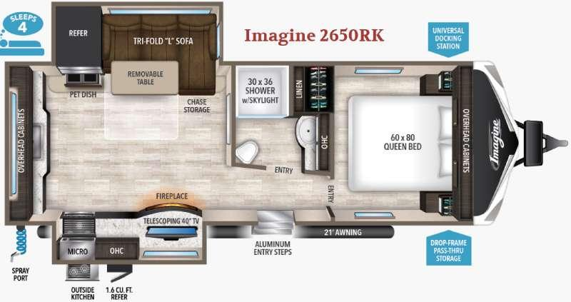 Floorplan - 2017 Grand Design Imagine 2650RK