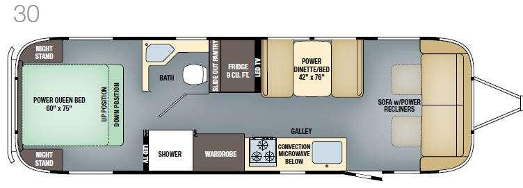Floorplan - 2017 Airstream RV Classic 30