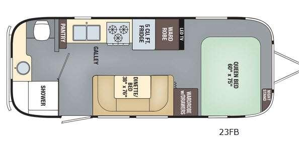 Floorplan - 2017 Airstream RV Flying Cloud 23FB