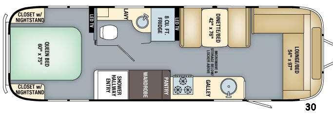 Flying Cloud 30 Floorplan Image
