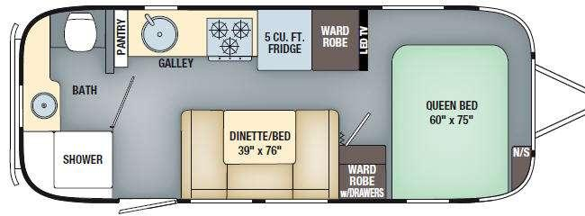 Floorplan - 2017 Airstream RV International Serenity 23FB