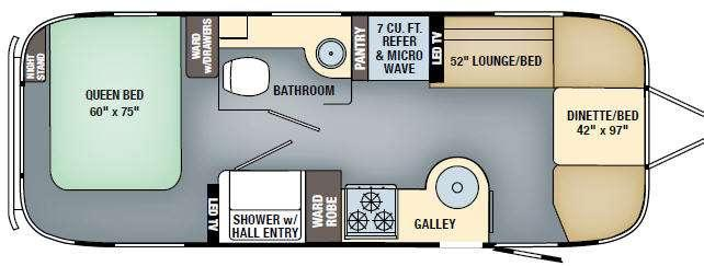 Floorplan - 2017 Airstream RV International Serenity 25