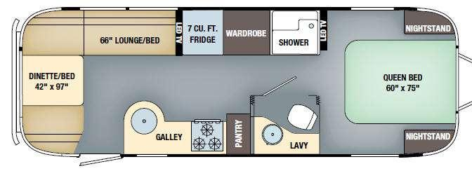 Floorplan - 2017 Airstream RV International Serenity 27FB