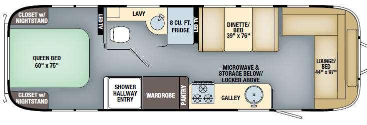 Floorplan - 2017 Airstream RV International Serenity 30