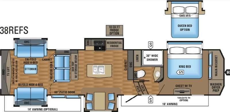 Pinnacle 38REFS Floorplan Image