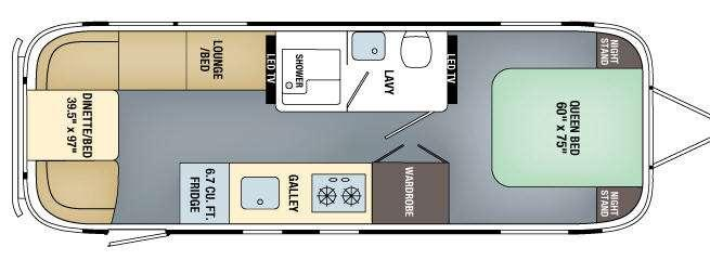 Floorplan - 2017 Airstream RV Land Yacht 28