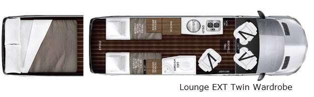 Interstate Lounge EXT Lounge EXT Twin Wardrobe Floorplan Image