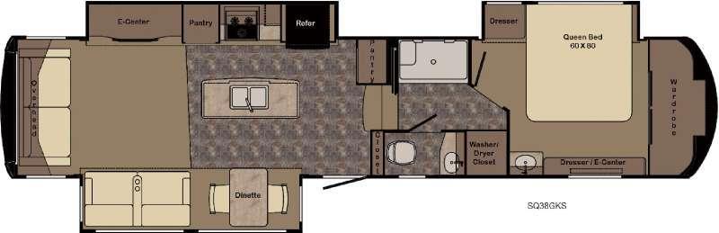 Sequoia SQ38GKS Floorplan Image