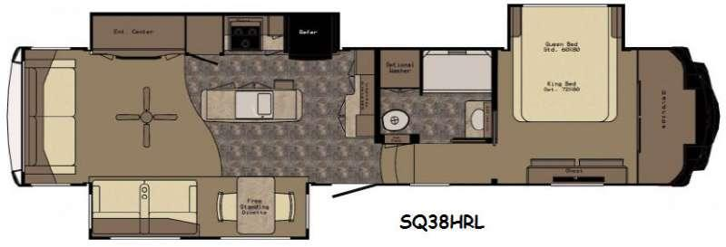 Floorplan - 2017 Redwood RV Sequoia SQ38HRL
