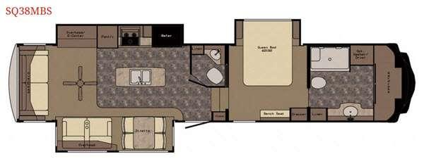 Floorplan - 2017 Redwood RV Sequoia SQ38MBS