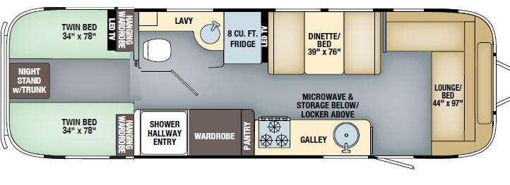 International Signature 30 Twin Floorplan Image