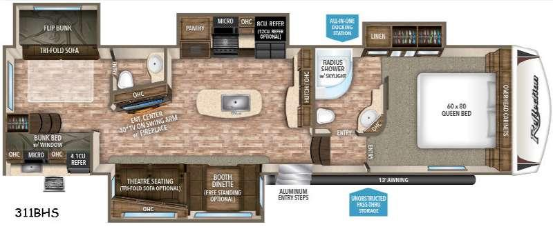 Floorplan - 2017 Grand Design Reflection 311BHS