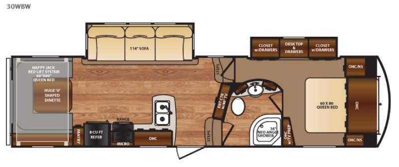 Floorplan - 2017 Forest River RV Black Diamond 30WBW