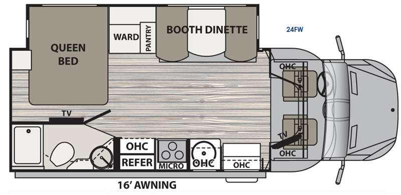 Floorplan - 2017 Dynamax isata 3 24FW