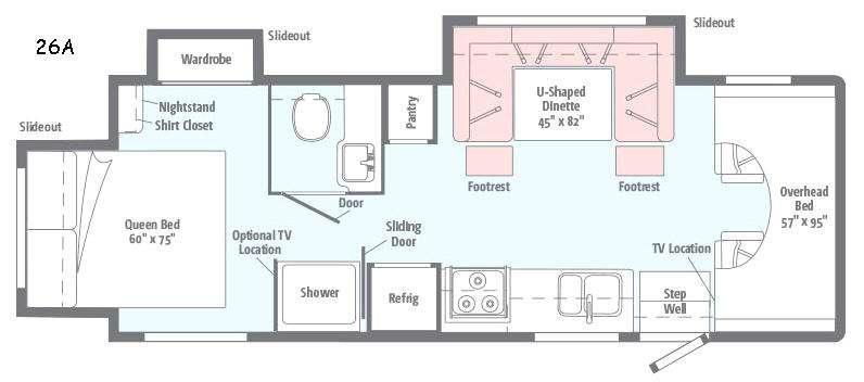 Minnie Winnie 26A Floorplan Image