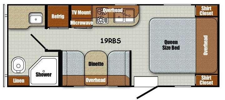 Floorplan - 2017 Gulf Stream RV Vintage Friendship 19RBS