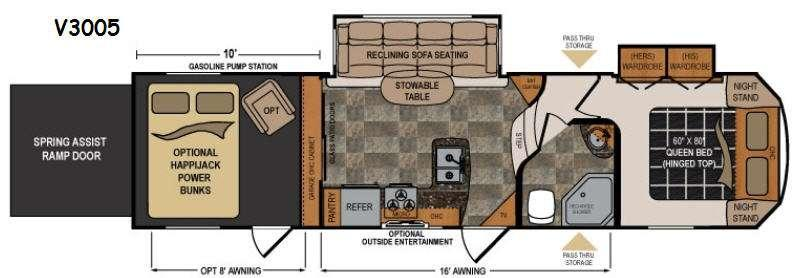 Floorplan - 2017 Dutchmen RV Voltage V3005