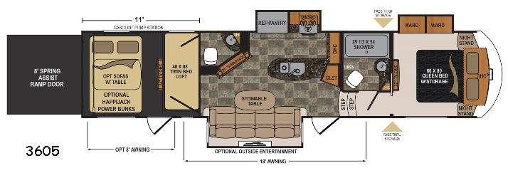 Floorplan - 2017 Dutchmen RV Voltage V3605