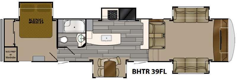 Bighorn Traveler 39FL Floorplan Image