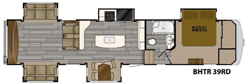 Floorplan - 2017 Heartland Bighorn Traveler 39RD