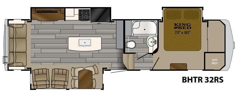 Bighorn Traveler 32RS Floorplan Image