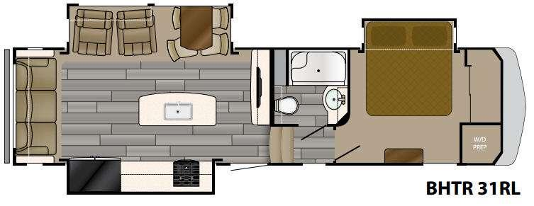Bighorn Traveler 31RL Floorplan Image