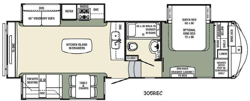 Columbus Compass 305REC Floorplan Image