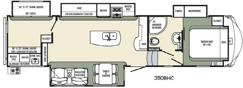Columbus Compass 350BHC Floorplan Image
