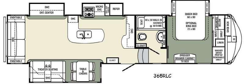 Columbus Compass 365RLC Floorplan Image