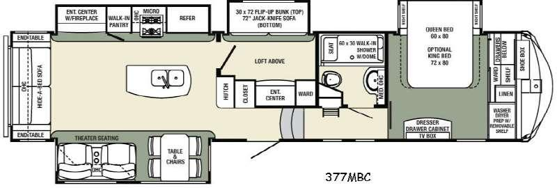 Floorplan - 2017 Palomino Columbus Compass 377MBC
