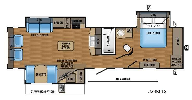 Eagle 320RLTS Floorplan Image
