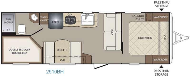 Bullet Crossfire 2510BH Floorplan Image