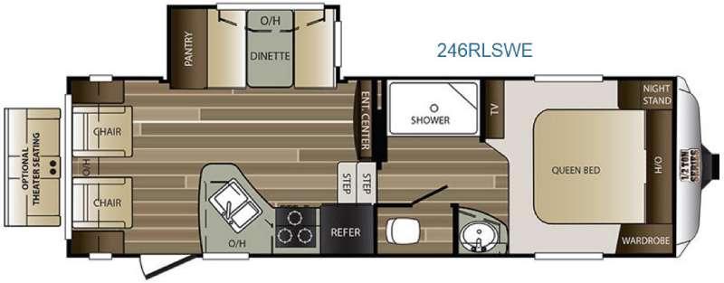 Cougar Half-Ton Series 246RLSWE Floorplan Image