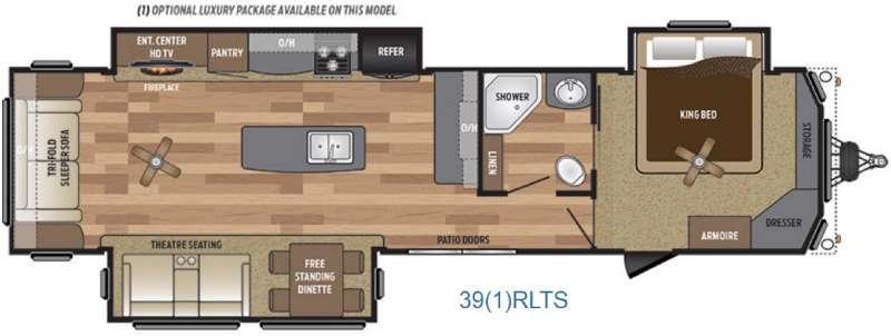 Retreat 39RLTS Floorplan Image