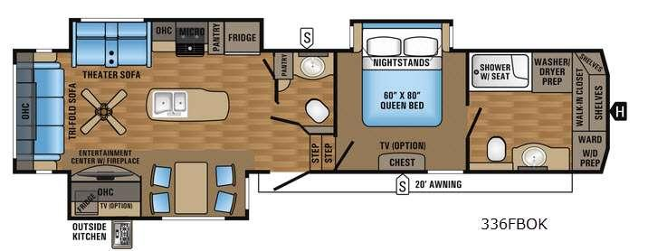 Floorplan - 2017 Jayco Eagle 336FBOK