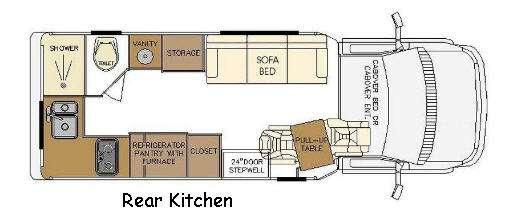 Floorplan - 2017 Born Free Majestic Royal Rear Kitchen